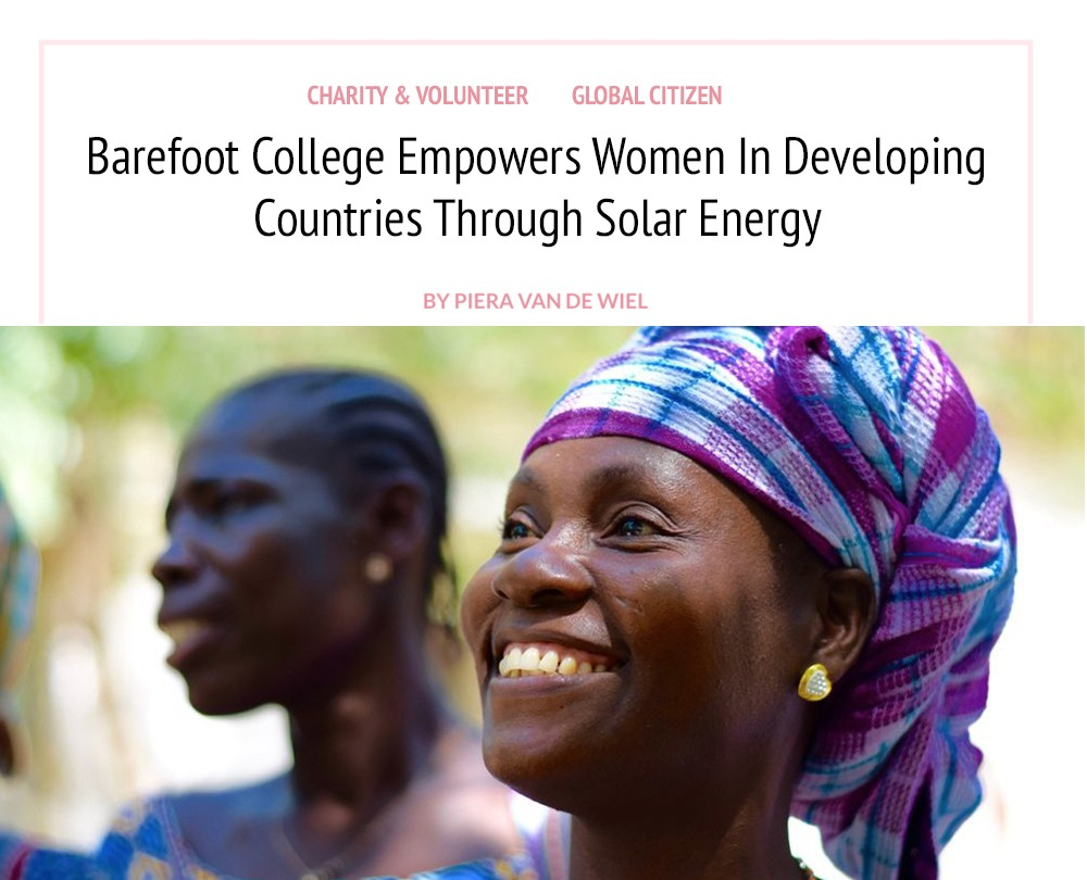 Barefoot College Empowers Women In Developing Countries Through Solar Energy