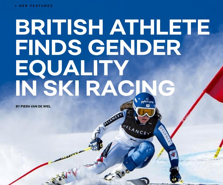 BRITISH ATHLETE FINDS GENDER EQUALITY IN SKI RACING