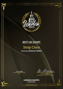 Strip Clara wins Best UK Short at London Shorts Film Festival